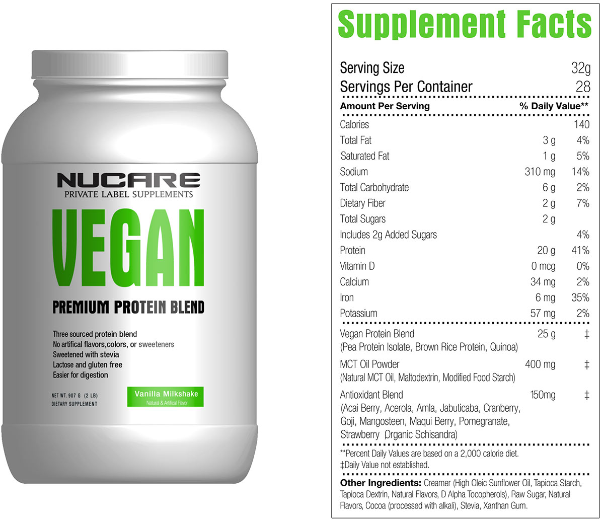 It is a picture of Unusual White Label Protein Powder